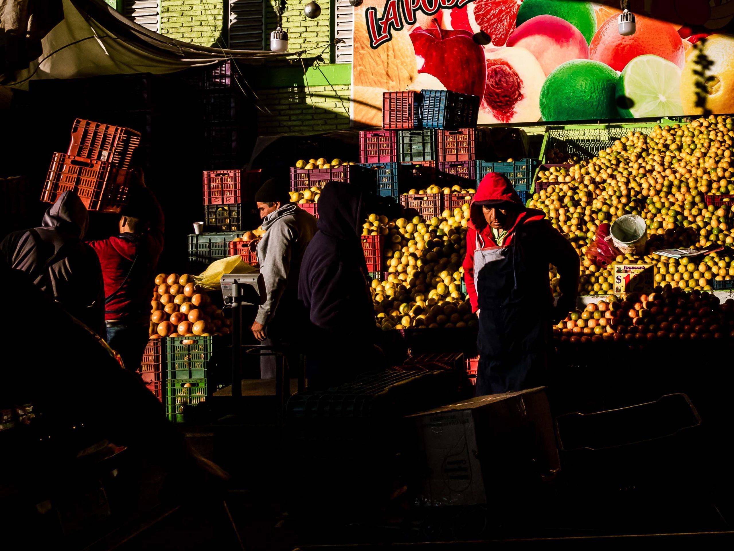 Morgens auf Mercado de Abasto in Oaxaca Mexiko