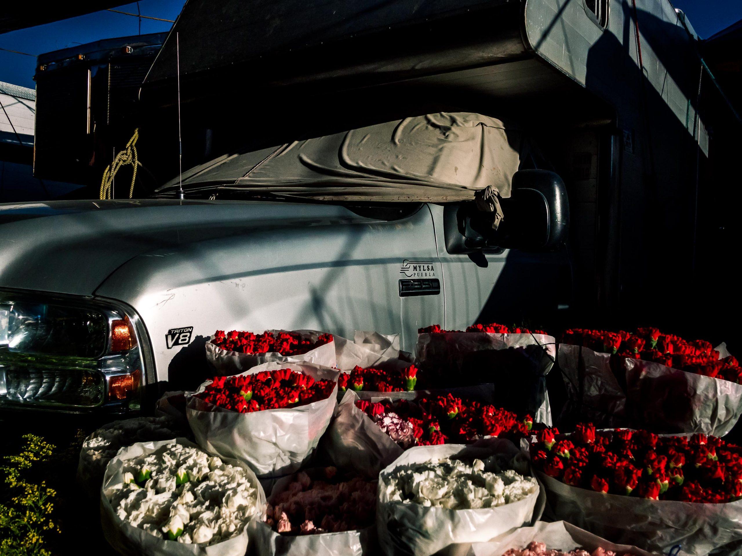 Gemüseangebot auf Mercado de Abasto in Oaxaca Mexiko