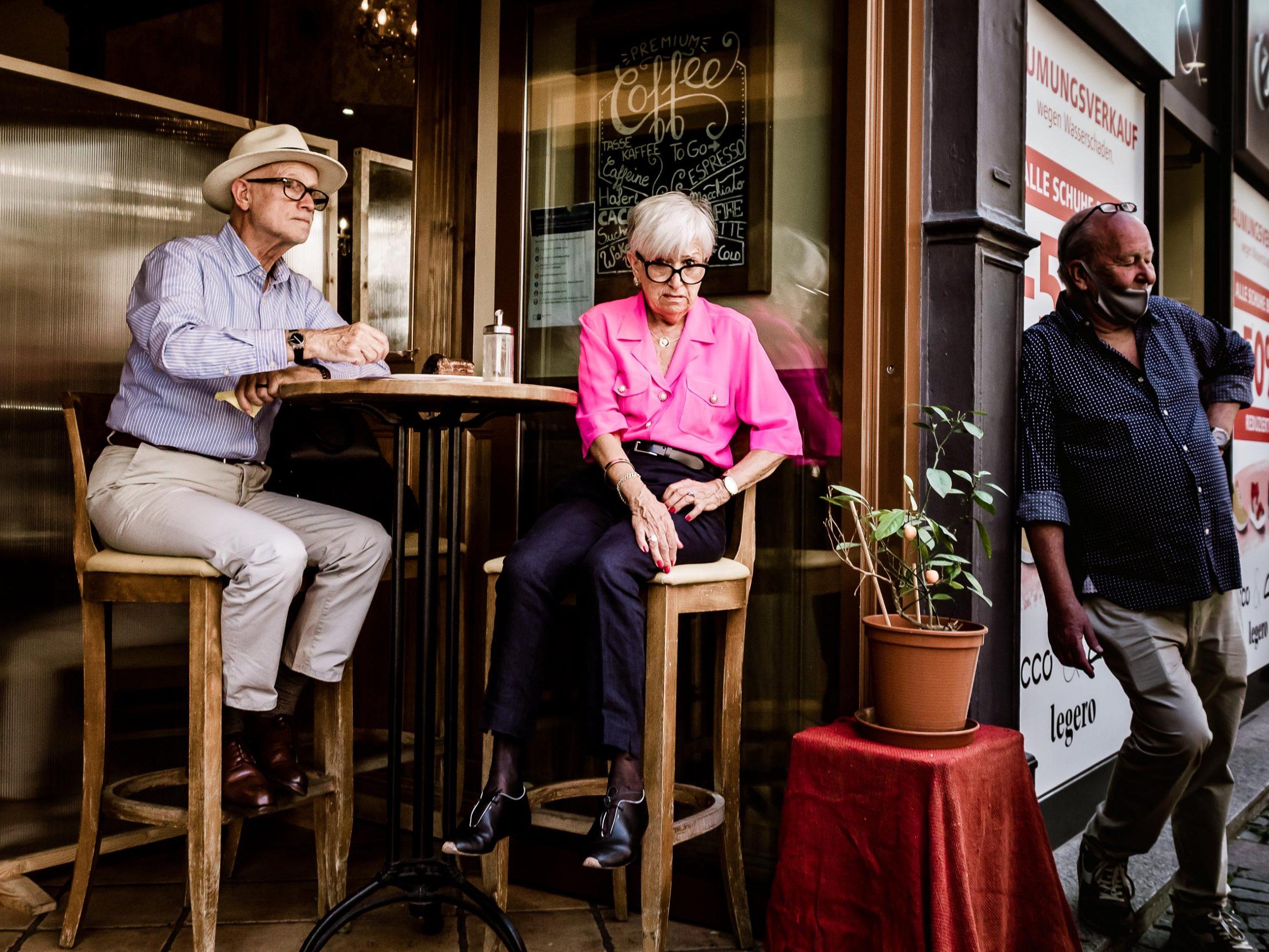 Im Cafe am Viktualienmarkt in München