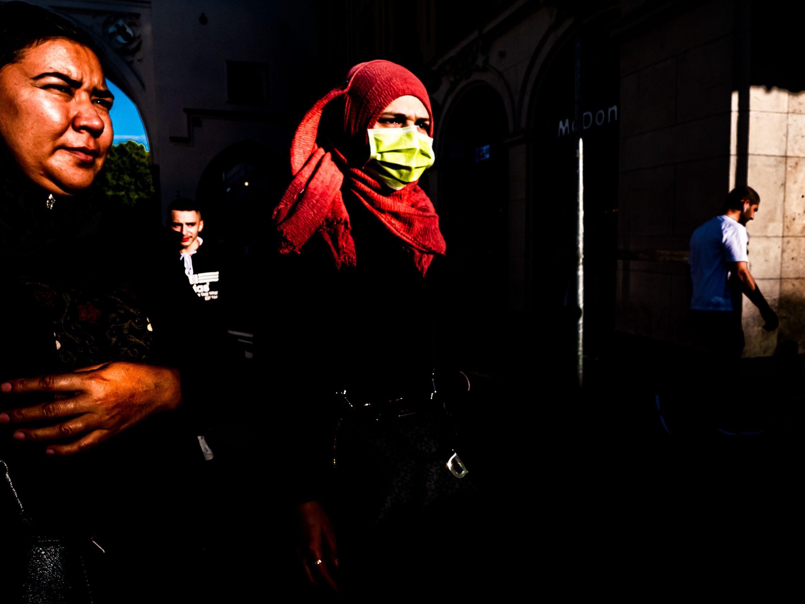 Multikulti in der Innenstadt von München, Bayern
